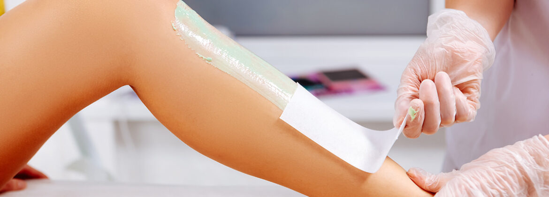 Wosk depilacja nogi ciało kobieta